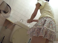 You will be amazed at how shy looking cuties get wild and a little nasty when they think they're alone. Our spy cam is in the public bathroom and one delicious Asian babe walked right into our trap. She takes off her panties and slides her hands between her legs to work her wet pussy to a hot orgasm, not knowing we are watching.