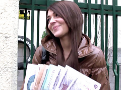 Dude stumbled on a slut wandering the empty, freezing streets to soothe his horniness. Once they started talking sweet Alexis Brill opened up about her job and her bills, and made it clear she thirsted for a little cash and a piece of that good dick!
