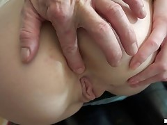 After finding this Russian redhead lost in the city, dude used the power of cash to get Alice horny enough to fuck. After paying for a peek at her tits, dude charmed Alice out of clothes and back home so he could nail her sweet shaved pussy!
