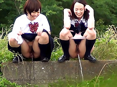Apprised right where to hang out with our PissJapanTV.com camera, we catch these girls playing hookie and squirting from their nookie. With each girl taking off her panties, spreading her legs and letting the waters flow, its lots of fun to just take in the smells.