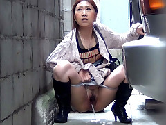 Following some honeys who have to pee, PissJapanTV.com films them in the alleys and woods. As each squats to release, we zoom in then check out their puddling after they go.